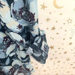 LOFT Tops - LOFT | Floral Print Long Sleeve Career Blouse